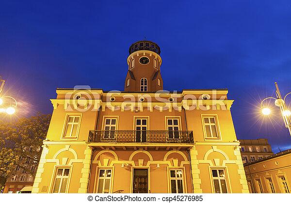 City Hall on Bieganski Square in Czestochowa - csp45276985