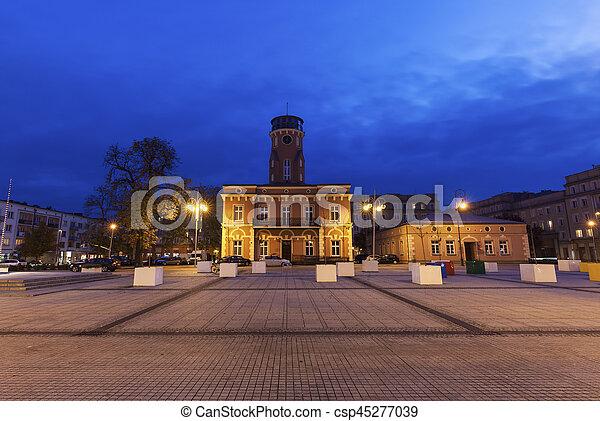 City Hall on Bieganski Square in Czestochowa - csp45277039
