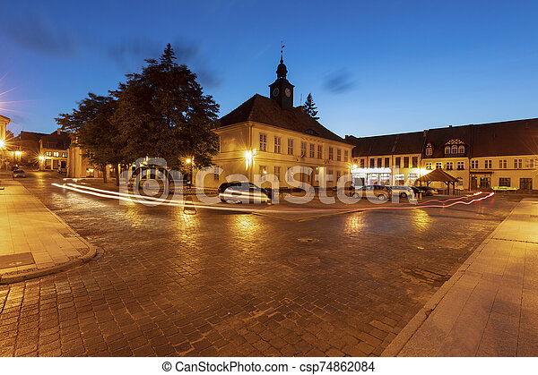 City hall on main square in Reszel - csp74862084