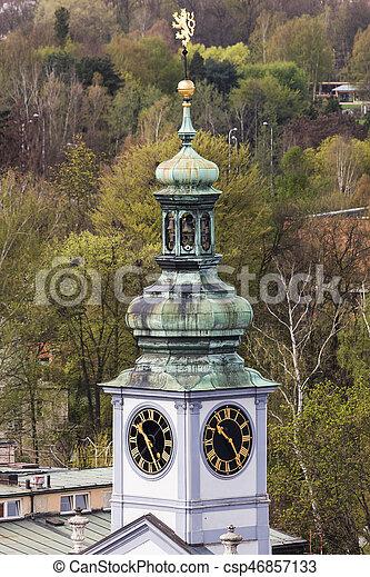 City Hall on Main Square of Ceske Budejovice - csp46857133