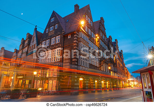 City Hall on Market Square in Bremen, Germany - csp46626724