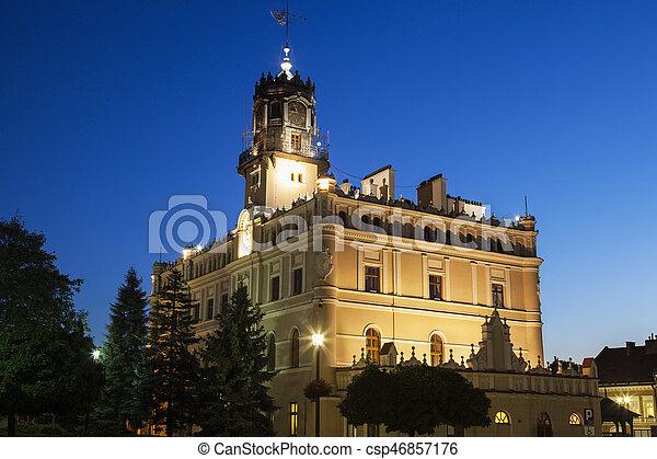City Hall on Market Square in Jaroslaw - csp46857176