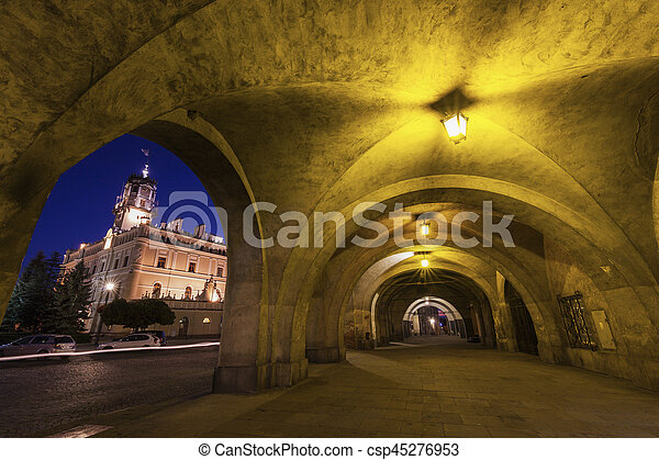City Hall on Market Square in Jaroslaw - csp45276953
