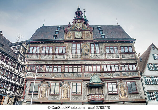 City Hall on Market Square in Tubingen, Germany - csp12780770