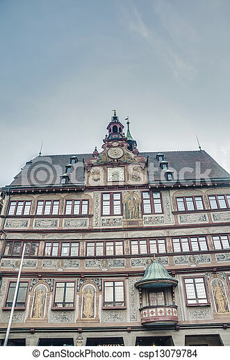 City Hall on Market Square in Tubingen, Germany - csp13079784