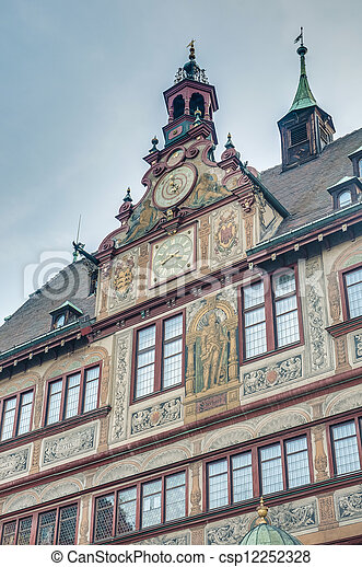 City Hall on Market Square in Tubingen, Germany - csp12252328