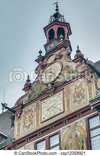 City Hall on Market Square in Tubingen, Germany - csp12358921