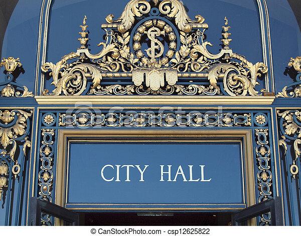 City Hall Sign - csp12625822