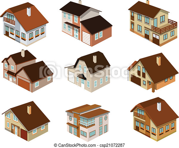 City houses in perspective - csp21072287