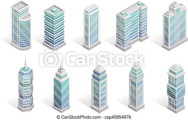 City Houses Set - csp45854976