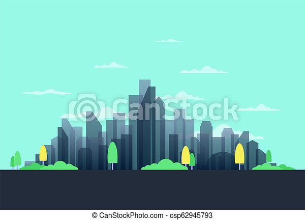 City in the summer - csp62945793