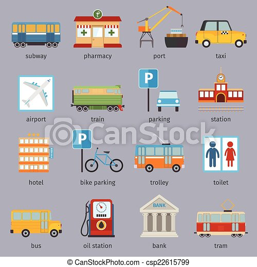 City infrastructure icons - csp22615799