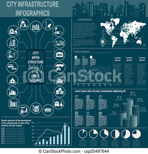 City infrastructure infographics - csp20497644