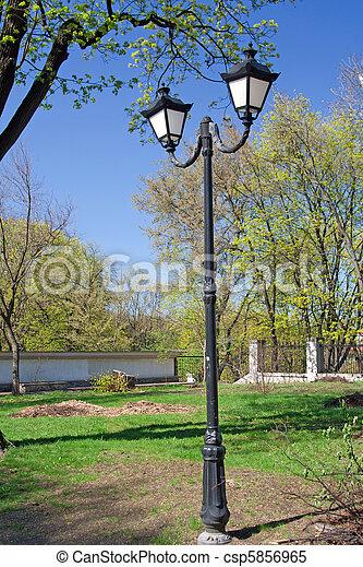 City lantern in park - csp5856965