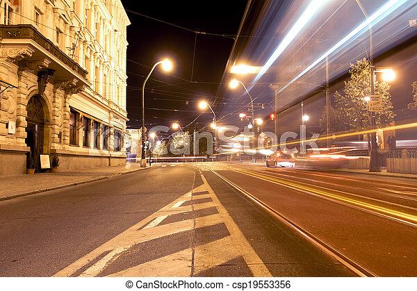 City light trails - csp19553356