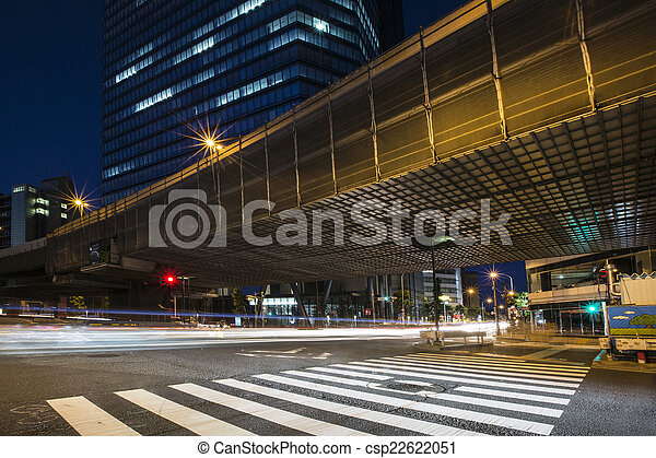 City light trails - csp22622051