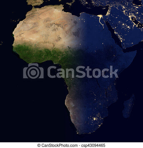 City lights on world map africa city lights on world map africa csp43094465 gumiabroncs Images