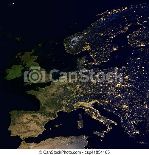 City lights on world map europe elements of this image are city lights on world map europe csp41854165 gumiabroncs Gallery