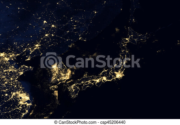 City lights on world map japan elements of this image are city lights on world map japan csp45206440 gumiabroncs Gallery