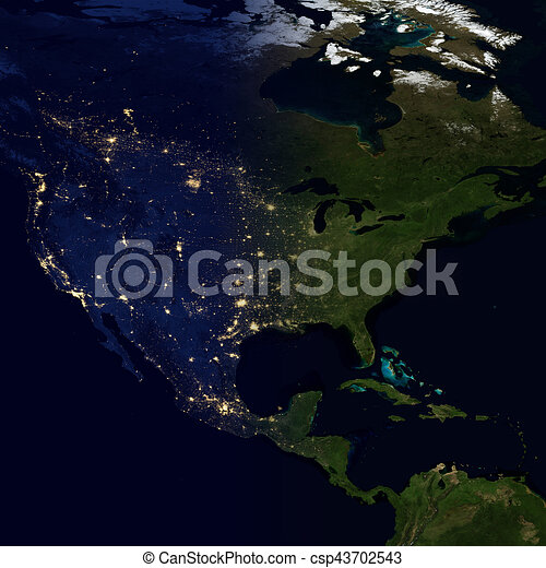 City lights on world map north america city lights on world map north america csp43702543 gumiabroncs Images