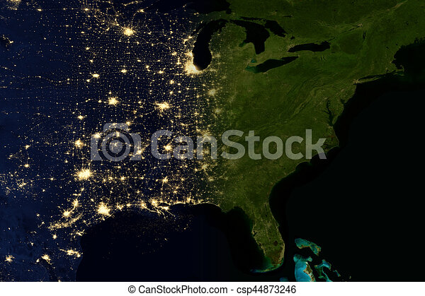 City lights on world map north america elements of this image are city lights on world map north america csp44873246 gumiabroncs Image collections