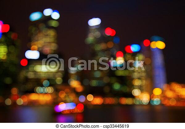 City lights - csp33445619