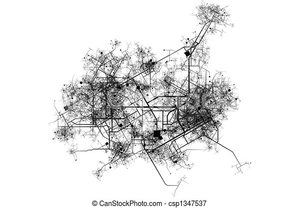 City map blueprint abstract of a city in a white background stock city map blueprint abstract of a city in a white background malvernweather Image collections