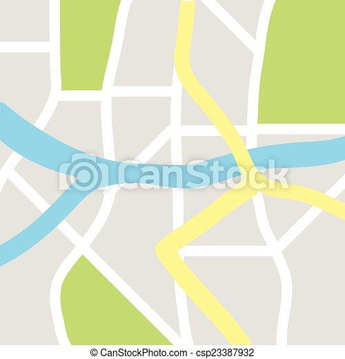 city map - csp23387932