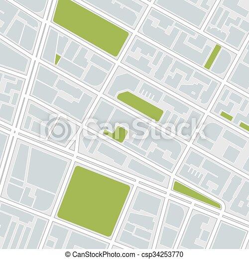 city map.   - csp34253770