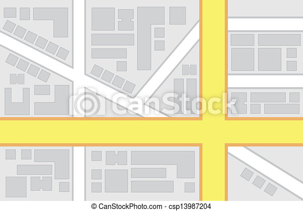 City Map Main Roads Intersection - csp13987204