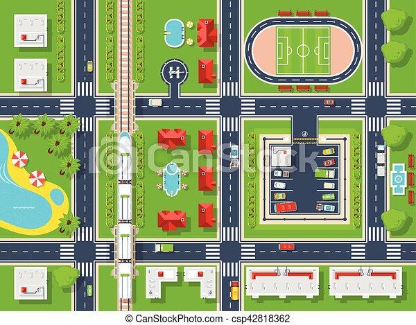 City Map Top view - csp42818362