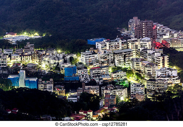 City night scene - csp12785281