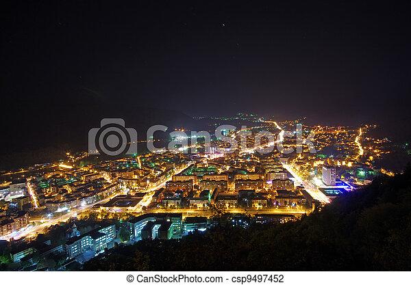 City night scene - csp9497452