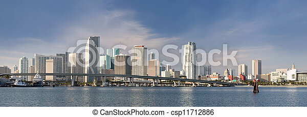 City of Miami Florida panorama - csp11712886