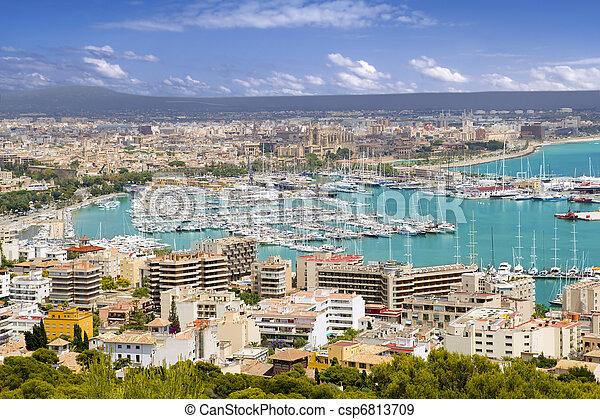 City of Palma de Mallorca in Majorca Balearic island - csp6813709