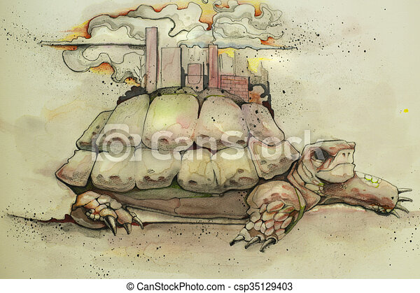 CIty On A Turtle