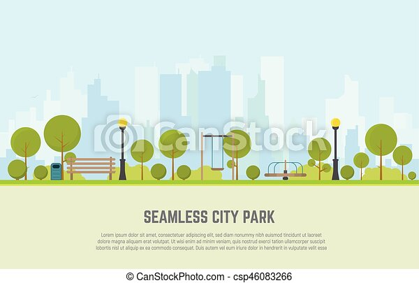 City park seamless background - csp46083266