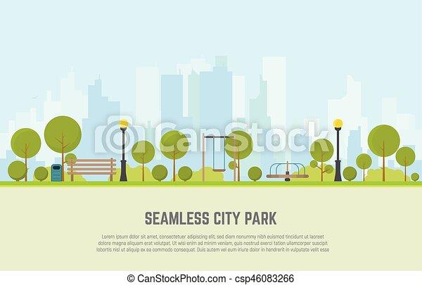 City park seamless background - csp46083266