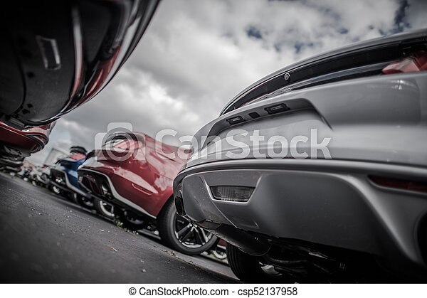 City Parking Full of Cars - csp52137958