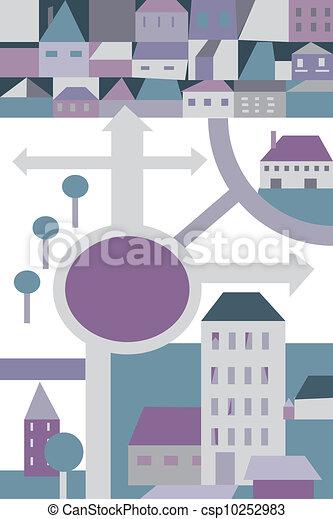 City plan cartoon for children - csp10252983