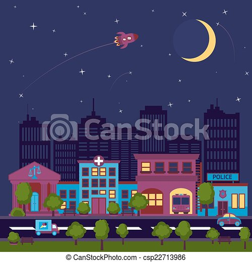 city scape night background csp22713986