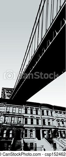 City scene with bridge - csp1524624