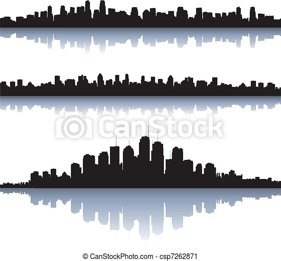 City silhouettes - csp7262871