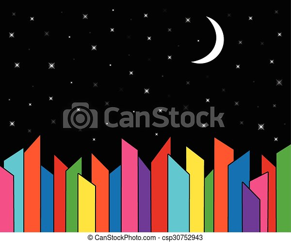City Skyline at Night - csp30752943