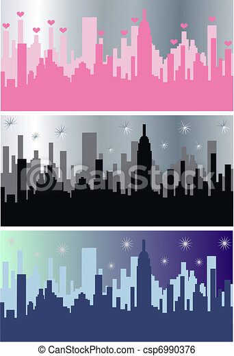city skyline - csp6990376