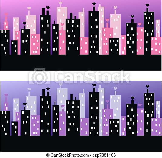 city skyline - csp7381106