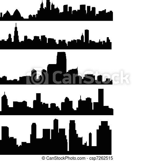 City skyline - csp7262515