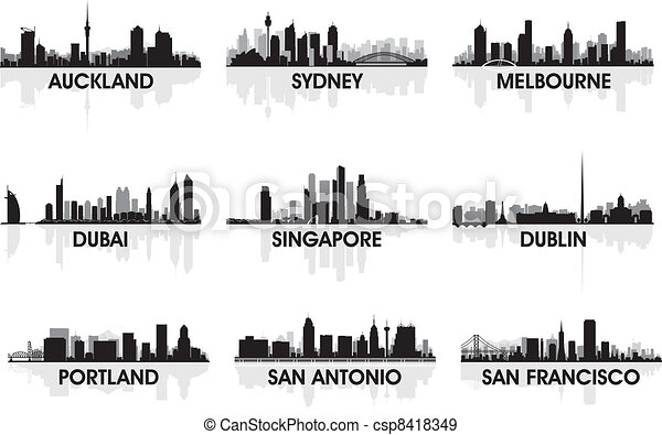 City skyline - csp8418349