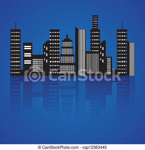 City skyline - csp12363445