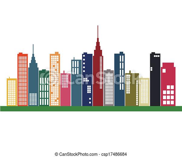 City Skyline - csp17486684